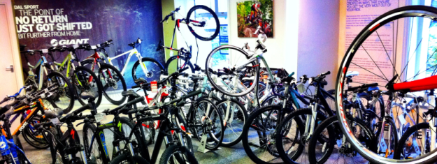 The Pedalsport showroom is always packed with a huge range of bikes!